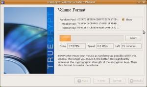 Formattazione del file contenitore cifrato